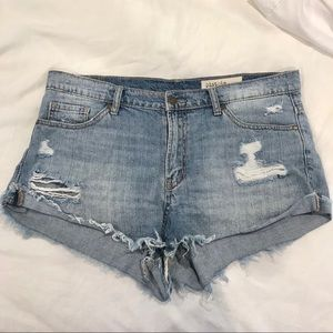Boutique Distressed Denim Shorts